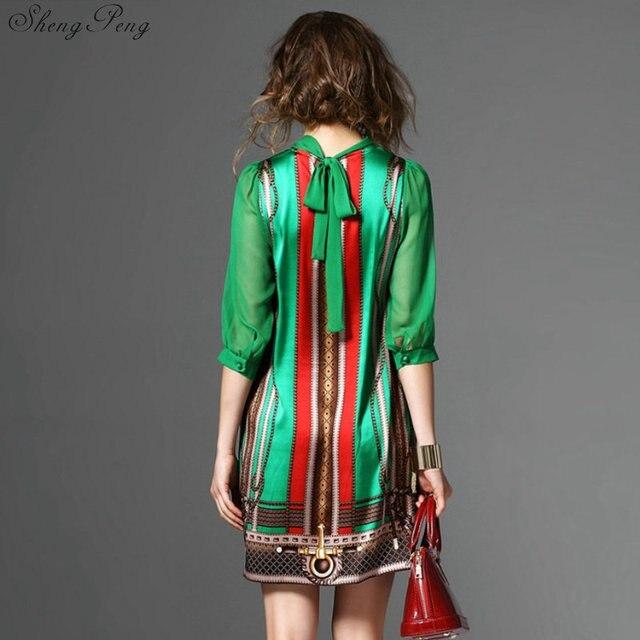 Hippie bohemian style boho hippie dress mexican embroidered dress boho chic dresses Q531 6