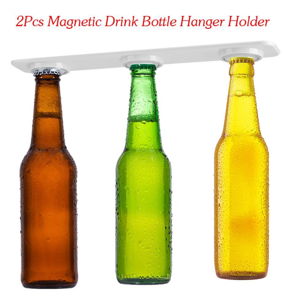 2pcs Magnetic Drink Bottle Hanger Holder Bracket Beer