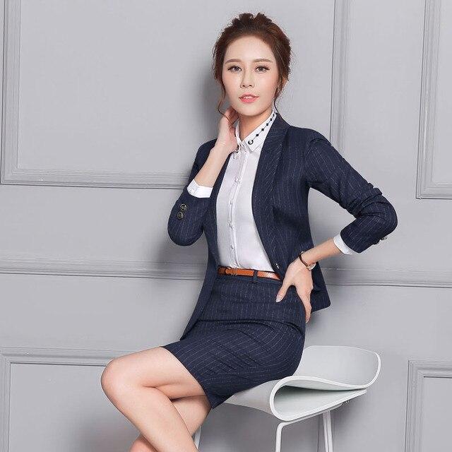 f89715123b9173 Novelty Blue Formal Professional Business Women Blazers Jackets Coat Slim  Fashion Ladies Blazer Coat Tops Female Office Blaser