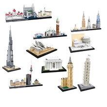 NY Cidade Edifício Flatiron Famosos Blocos Arquitetura Modelo Sydne Budapeste Conjunto De Construção Tijolos de Brinquedo Caçoa o Presente Compatível Legoings