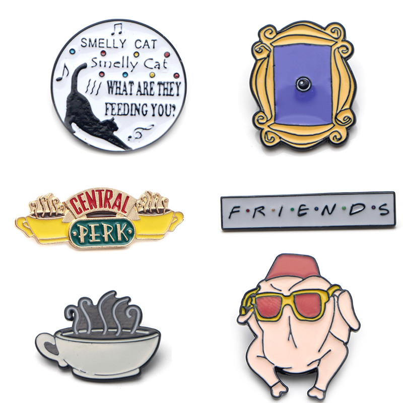 Pin Funny Badge Brooch T-Shirt Backpack Collar Jewelry Enamel-Pin Tv-Show K339-Friends