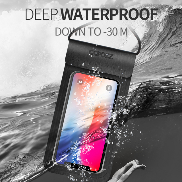 COPOZZ Waterproof Phone Case Cover Touchscreen Cellphone Dry Diving Bag Pouch with Neck Strap for iPhone
