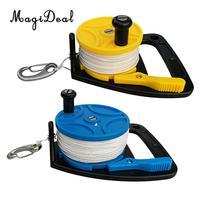 2Pcs Multi Purpose Safety Scuba Diving Diver Dive Line Reel Kayak Anchor & Handle Blue,Yellow