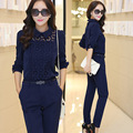 Fall 2015 Couture Europe suit slim slim two piece female fashion leisure suit