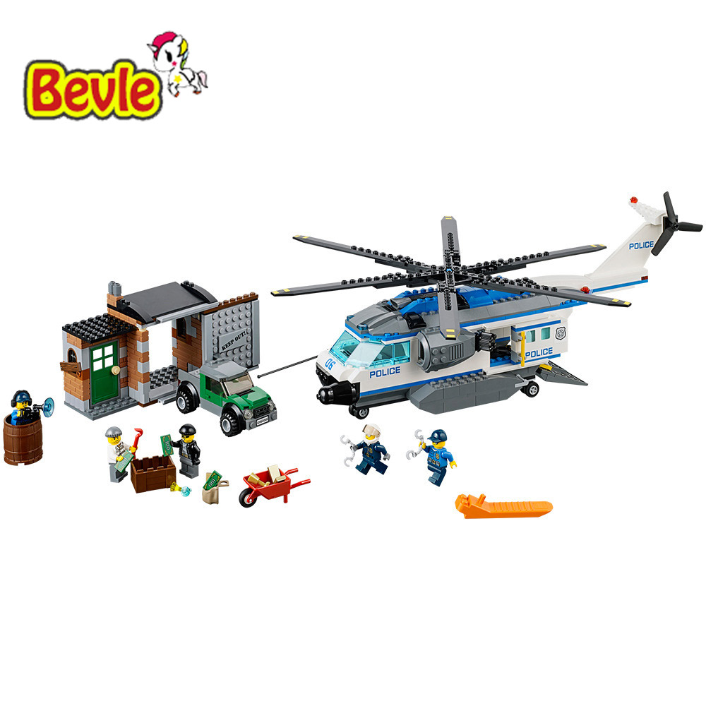 Bevle Bela 10423 Urban City Patrol Helicopter Building Block Toys Compatible with Lepin 60046  цена