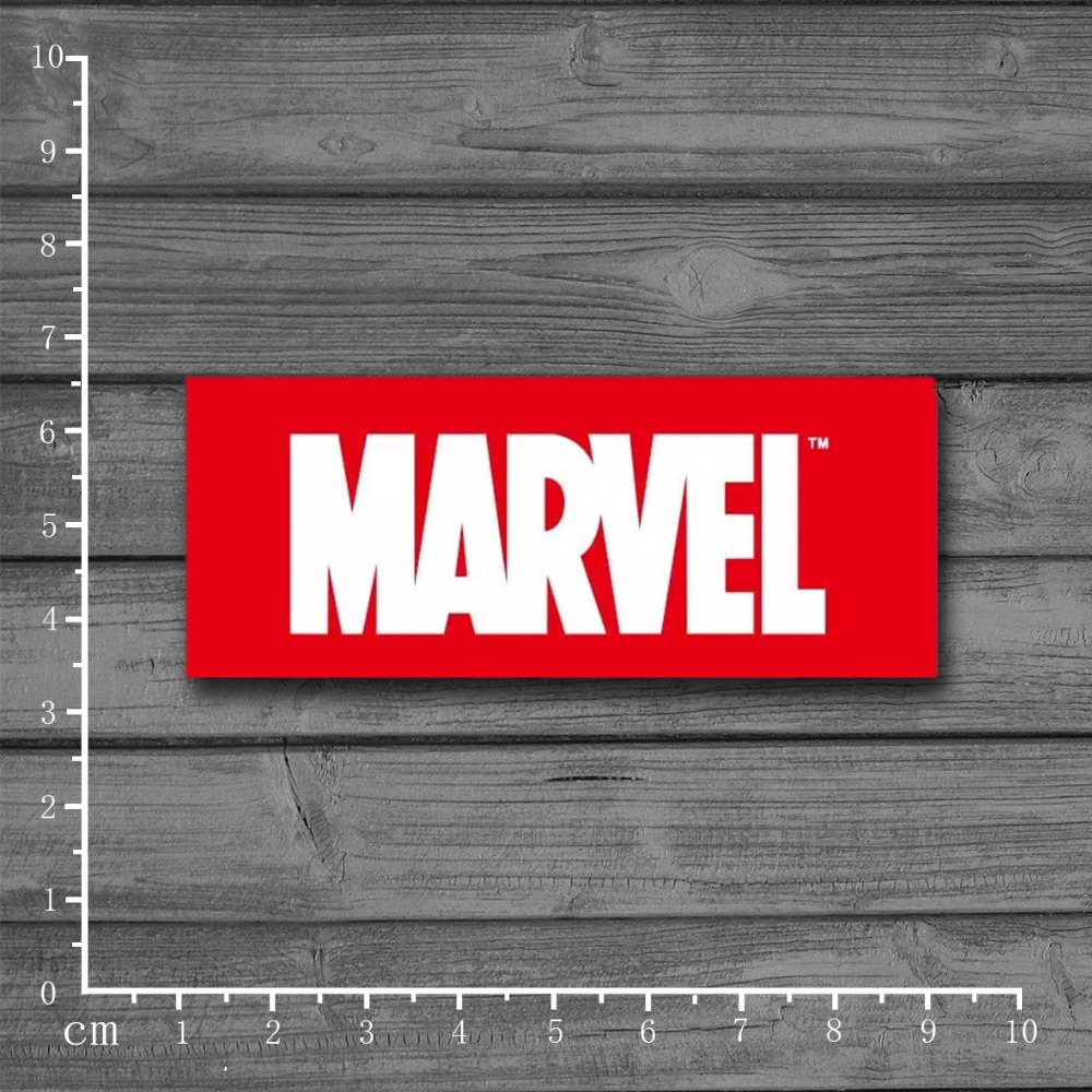 Marvel Comics Company Logo Graffiti Stationery Sticker for Kid Toy DIY Skateboard Laptop Luggage Phone Notebook Stickers[Single] image