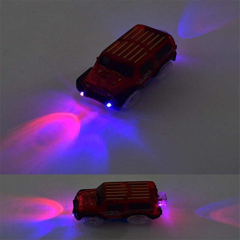 Veículos Miniatura e de Brinquedo 2017 novidade milagrosa pista de Key Word 7 : Led Lights Glowing Track