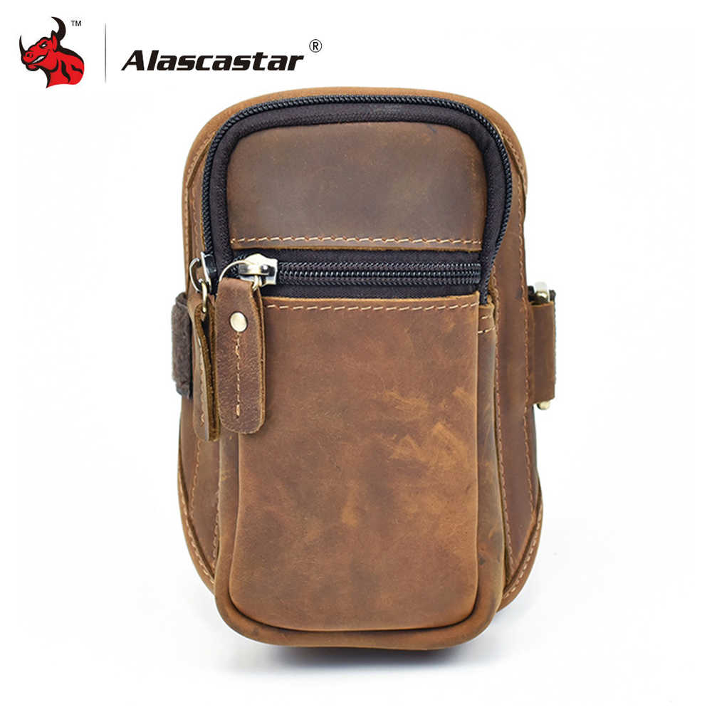 034d6a7e5e Motorcycle Bags Retro Vintage Full grain cow leather Men Arm Bags Mobile  Phone Bags Small Travel