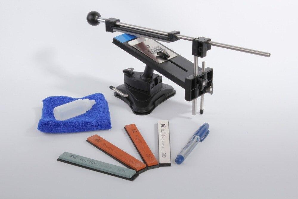Lansky Ruixin Update Professional Chef Kitchen Knife Sharpener 4pcs Sharpening Stones Apex Edge Pro With Retail Black Bag