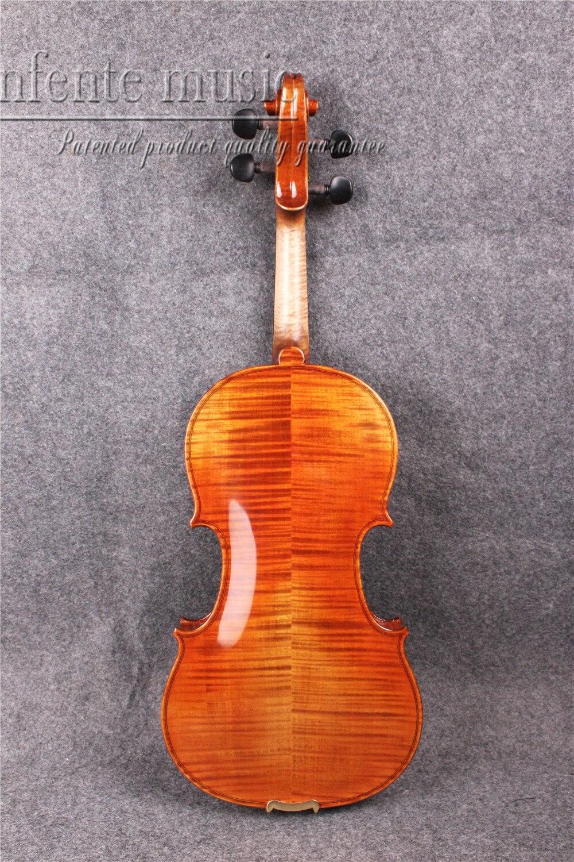 화염 메이플 어쿠스틱 바이올린 4/4 강력한 사운드 스프루스 탑 미세한 손으로 만든 # 2052