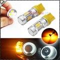 2 unids 2835-SMD Ámbar Amarillo 7443 7440 7444NA T20 Bombillas LED para el Coche Bombillas LED Para la Recepción de Señal de Vuelta, Luces de Circulación Diurna luces