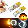 2pcs Amber Yellow 2835-SMD 7443 7440 T20 7444NA LED Bulbs For Car LED Bulbs For Front Turn Signal Lights,Daytime Running Lights