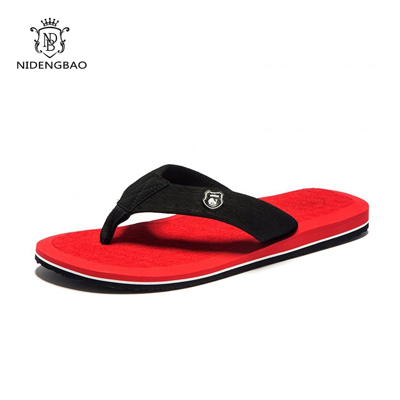NEEDBO Beach Flip Flops Men Slippers Shoes Comfortable Men