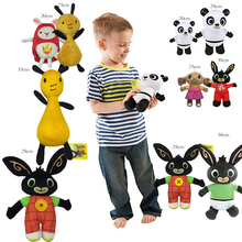 25/30 см детская футболка с кроликом Бинг плюшевая игрушка Сула-флоп Hoppity Voosh пандо Bing Коко плюшевые куклы игрушки, детские мягкие игрушки для детей на день рождения Рождественские подарки