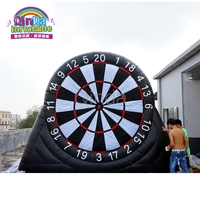 China manufacturer 9.8ft height inflatable dart game/inflatable soccer darts for party rental