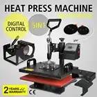 Hot koop 5 in 1 Warmte Persmachine Digitale Transfer T Shirt Sublimatie Mok Hoed Plaat Cap