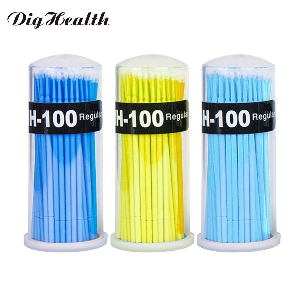 Dighealth 100PCS/Lot Disposable Microbrush Applicators Eyelash Extension Tools Grafting Remove False Eyelashes Cotton Swab