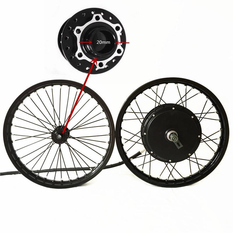 50 H QSV3 48 v-120 v 5000 w motore del mozzo bicicletta elettrica ruota macthing con ruota anteriore con hub 20mm della bici e kit