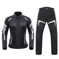 DUHAN Motorcycle Jacket Motorcycle Pants Set Breathable Mesh Motorbike Jacket Moto Pants Armor Riding Suit Clothing For Women