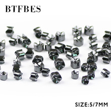 BTFBES Black Hematite Gear geometric beads Natural Stone Ore 5/7mm Magnetic therapy Loose For Jewelry bracelet Making DIY