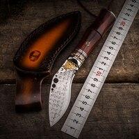 HX на открытом воздухе Классические ножи нож керамбит печать хорошая твердость Дайвинг Дамаск для шашлыков кривой knifeknife фабрики