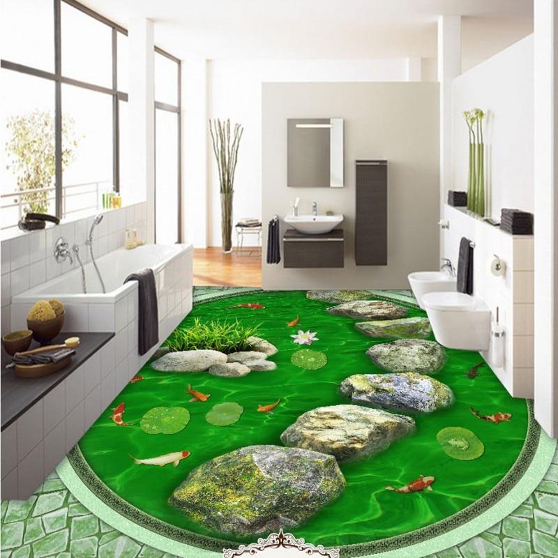 ФОТО Free Shipping 3D Stone Road Hawthorn flooring thickened waterproof bedroom square lobby living room bathroom flooring mural