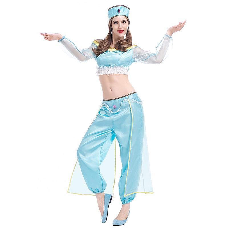 Umorden Carnival Party Halloween Costume Aladdin Lamp Princess Jasmine Costumes Sexy Arabian Princess Belly Dancer Cosplay Dress Принцесса Жасмин