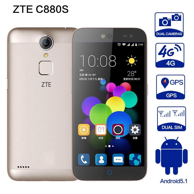 """bilder für Zte c880s a1 metallgehäuse android 5.1 e mtk6735 quad core dual sim 4G FDD LTE 5,0 """"HD 2G RAM 8G ROM 13MP Handy Unterstützung 128 GB"""