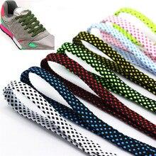 11 цветов, модные шнурки унисекс, прочные, плоские, двухслойные, полые, Полиэстеровые кроссовки, шнурки, спортивные, повседневные, шнурки