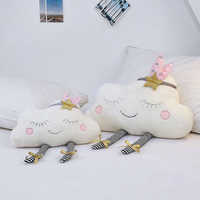 lucky Boy Sunday Ins Cloud Plush Pillow Soft Cushion Kawaii Cloud Stuffed Plush Toys For Children Baby Kids Pillow Girl Gift