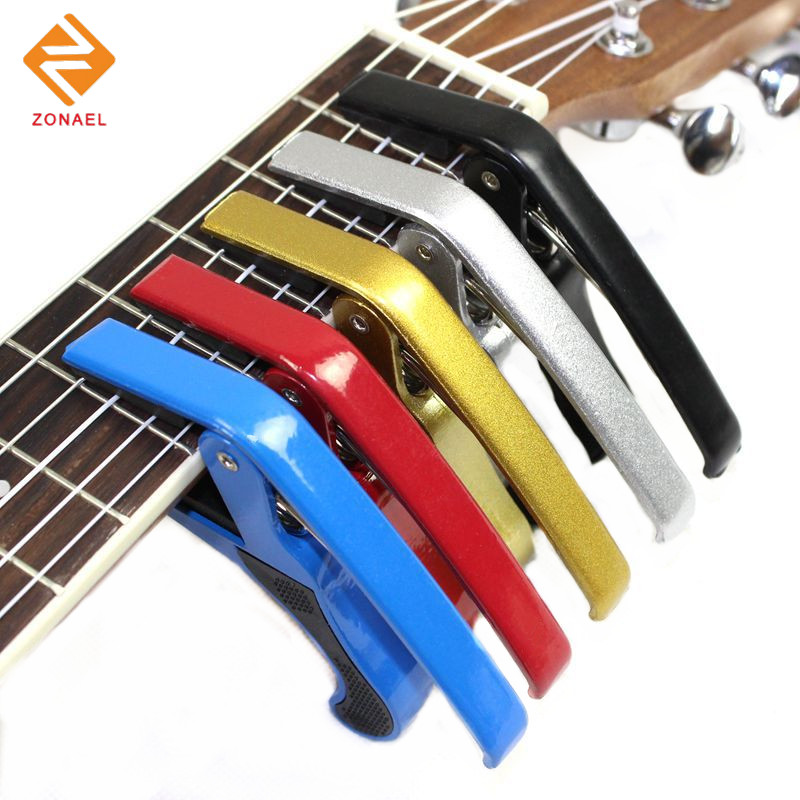 Zonael  Hot Quality New Electric Acoustic Guitar Bass Violin Ukulele Capo Single-handed Tune Clamp two way regulating lever acoustic classical electric guitar neck truss rod adjustment core guitar parts