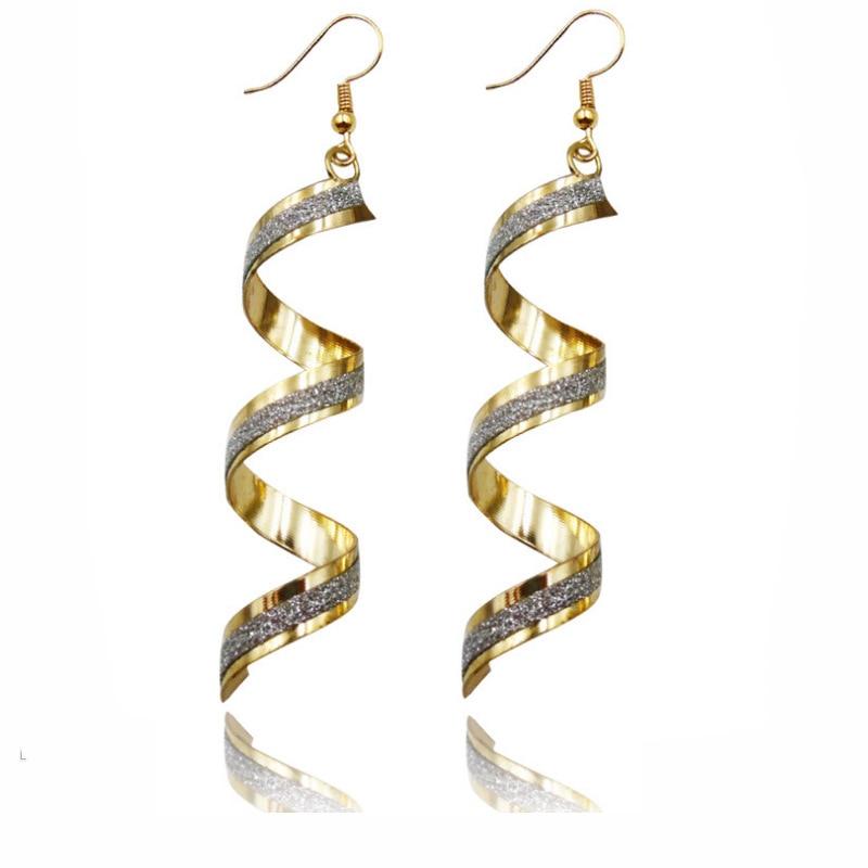 76e9a00323ff Crystal Drop Earrings for Women Wedding Punk Twist Spiral Dangle Earring  Dangling Earrings for Women Boucles