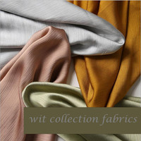ST002 3Meters Two sides Stripe Solid Color Women's Summer Fahion Crepe Chiffon Good Glossiness Drape Dress Fabrics Curtain Cloth