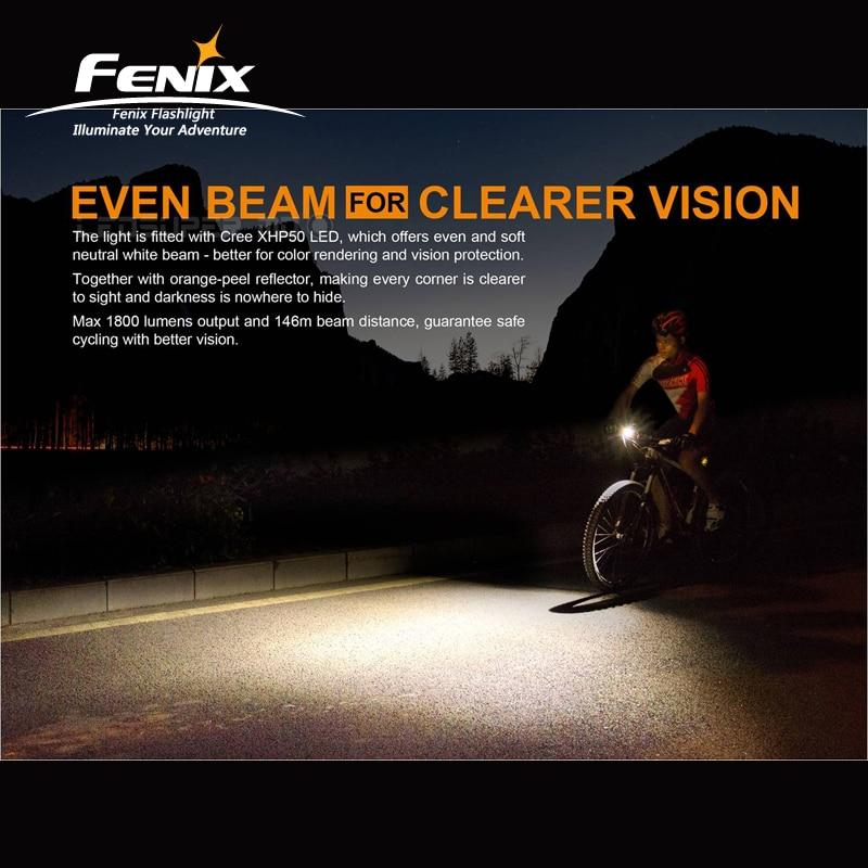 1800 Lumen Fenix BC35R Cree XHP50 Neutral White LED a Tutto tondo USB Ricaricabile Della Luce Della Bicicletta con schermo OLED - 2