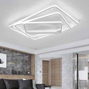 Image 5 - Moderne led Kronleuchter für wohnzimmer Schlafzimmer Aluminium Welle Rechteck kreis lustre Kronleuchter Lightin hohe decke Chandelers