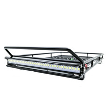 Metal Luggage Rack LED Spotlight RC Toys for 1/10 Model RC Crawler Car TRX4 Bronco Cherokee Wrangler Axial Scx10 TF2 CC01