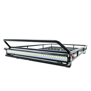 Image 1 - Metal Luggage Rack LED Spotlight RC Toys for 1/10 Model RC Crawler Car TRX4 Bronco Cherokee Wrangler Axial Scx10 TF2 CC01