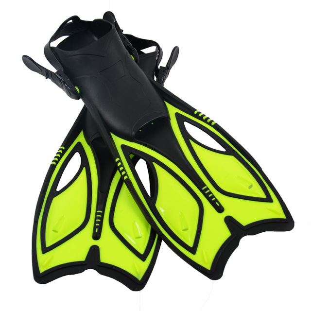 Swim Fins for Adult / Kids Adjustable Swimming Frog Shoes Silicone Professional Dive Team Open Diving Snorkeling Long Flippers S