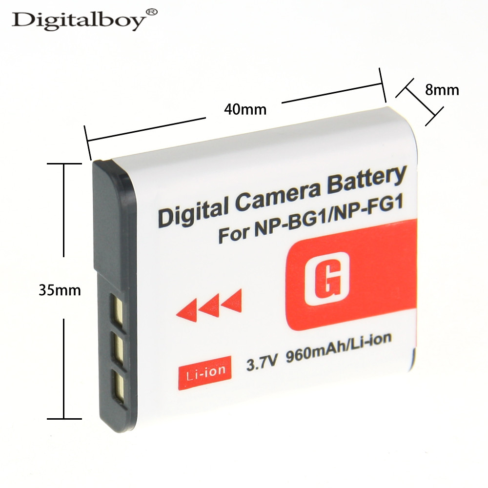DigitalBoy 960mAh 1PCS NP-BG1 NP BG1 NPBG1 Camera Replacement Battery For Sony HX30 DSC-W100 DSC-W120/L DSC-W120/P DSC-W