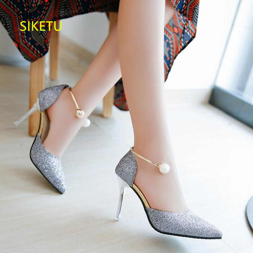SIKETU Free shipping Spring and autumn women shoes Fashion high heels shoes summer wedding shoes pumps g236 Wild sandals