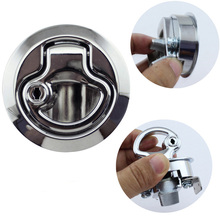 Marine Boat Zinc Alloy Deck Lock Press Type Round Cabinet Door Lock Boat Yacht Accessories