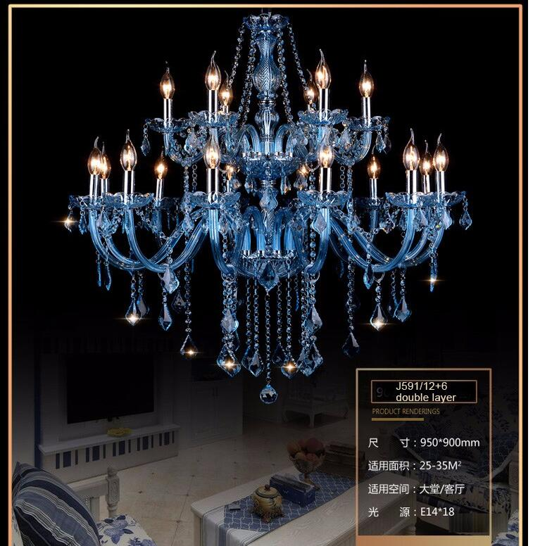 Free Shipping Blue K9 Crystal Chandelier Lustre Crystal Chandelier Lustres De Cristal Chandelier Lighting LED AC 100% Guaranteed
