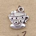 10 шт., подвески, чашка кофе 25x22 мм, античные посеребренные Подвески, сделай сам, ручная работа, тибетские серебряные ювелирные изделия
