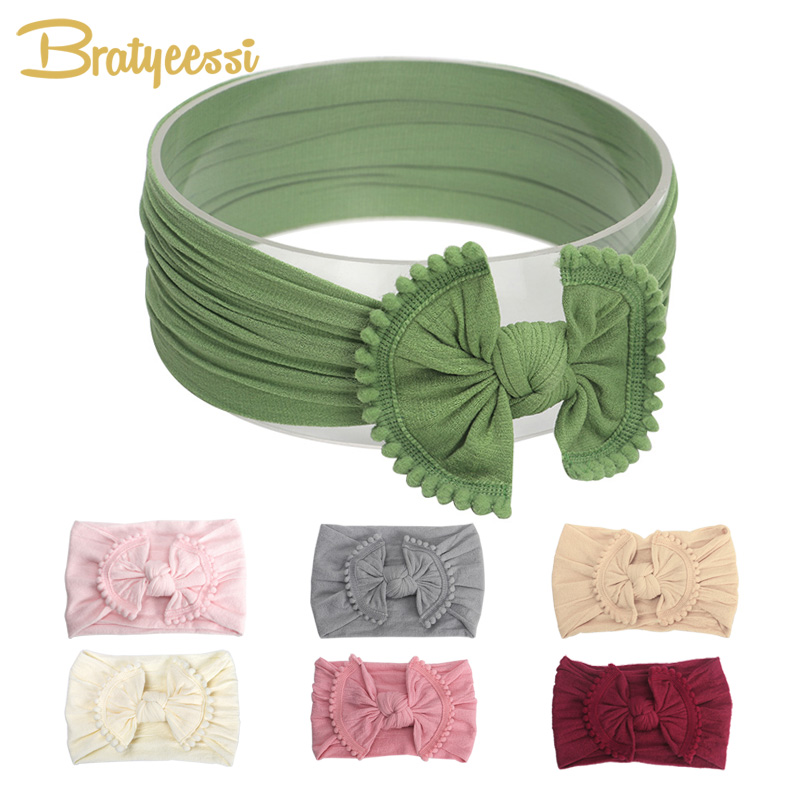 Bow Baby Headband For Girls Big Elastic Baby Girl Headbands Hair Accessories Newborn Photograph Props Kids Head Band 18 Colors