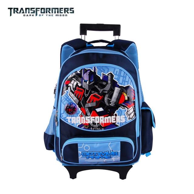 Transformers cartoon trolley/wheels children/kids school bag books ...