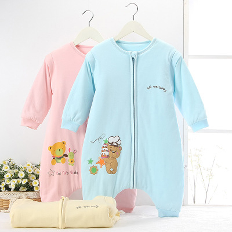 competitive price cf267 c5edc US $31.6 |Winter style Legs apart baby sleeping bags 100% cotton Detachable  sleeve child footed Sleepsack infant supplies wholesale M L XL-in ...
