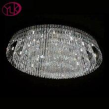 Овальный дизайн кристалл лампы для Гостиная большой Гостиная Современные хрустальные люстры L100 * W60cm роскошные светодиодный люстры де Cristal