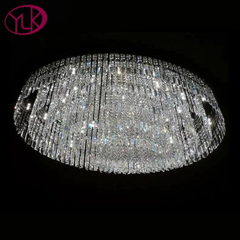 Ovale Lampe En Cristal De Conception Pour Salon Grand Salon Moderne Lustre En Cristal L100 * W60cm De Luxe LED Lustres De cristal