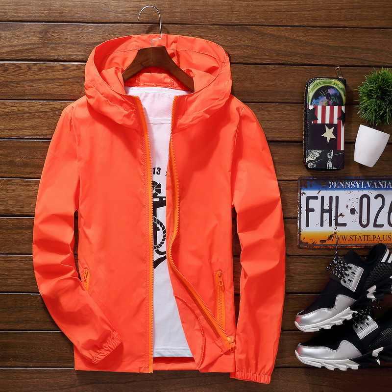 スポーツ屋外サイクリング薄型コートジャケット男カジュアルルースメンズウインドブレーカージャケット男性の色生き抜くトップス