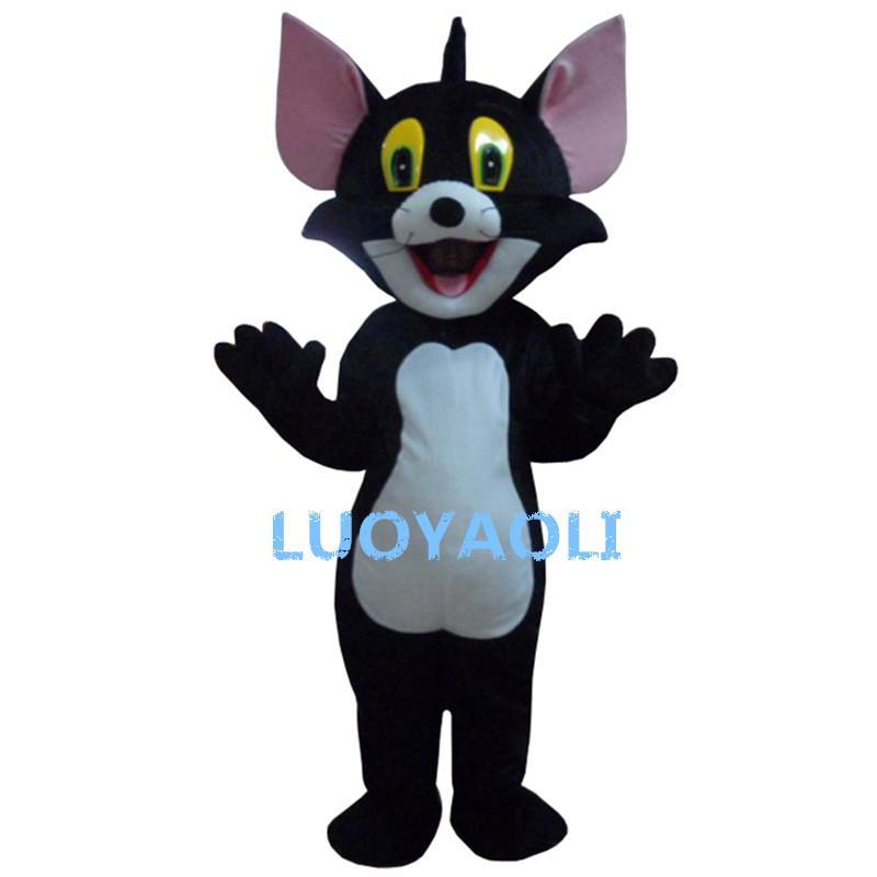 Free Shipping Black Cats Plush Cartoon Character Costume Mascot Cosplay Custom Products Customized